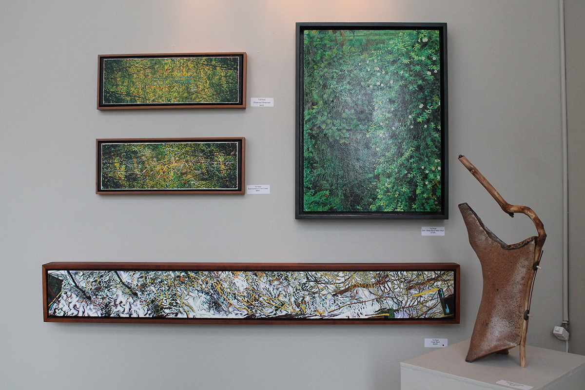Multiple mediums are featured in 200 Main's current exhibit, with paintings, sculptures, pottery and functional art.