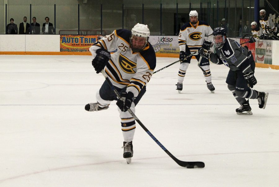 UW- Eau Claire men's hockey team secured another win for their record against Lawrence University.