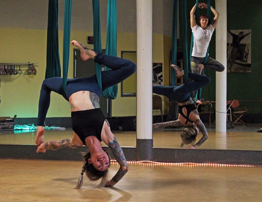 Moonrise Aerials, owned by Rachel Duffenbach and Michelle Anthony, was one of this fall's grant recipients