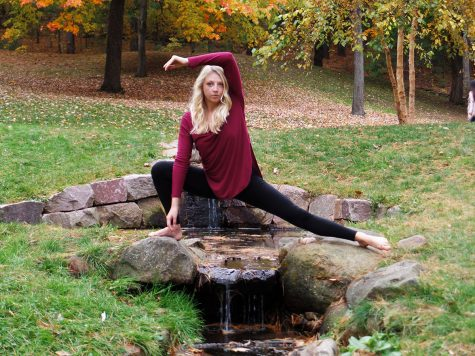 Sophia Jacobsen, a junior marketing student, dances and teaches at the Eau Claire School of Dance.