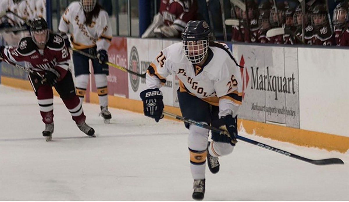 The women's UW-Eau Claire hockey team fell to UW-River Falls with a score of 4-1 on Saturday.