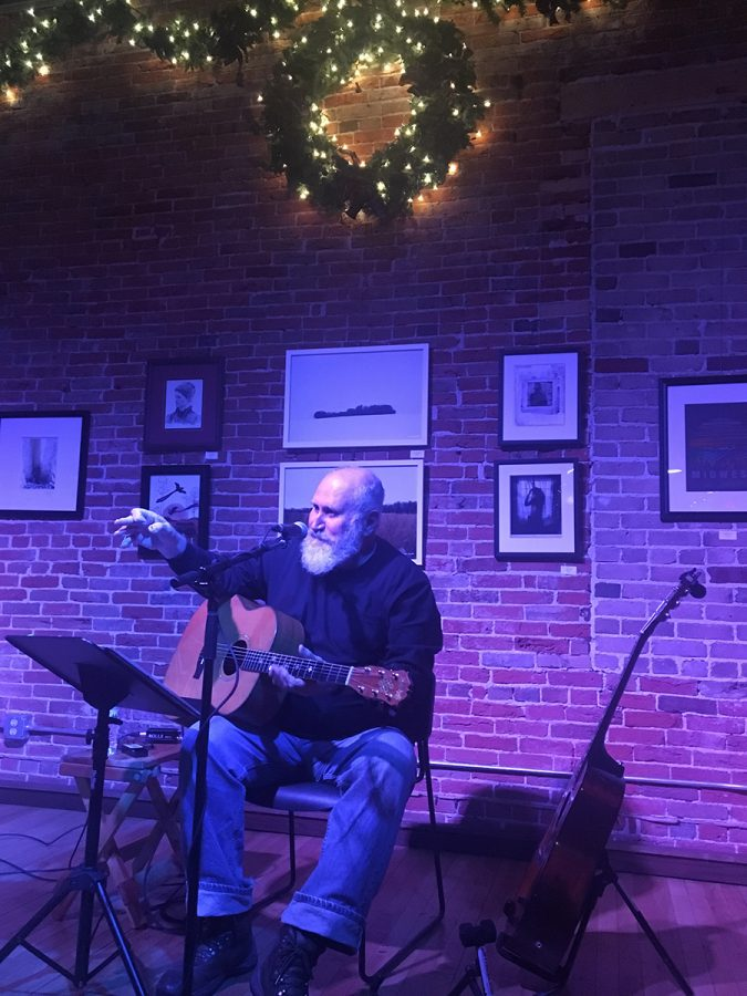 "Billy Krause, one of this week's performers, plays and writes ""alt-country-folk"" songs during Volume One's winter concert series, called Jingle Jams."