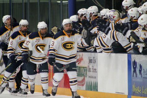 Men's hockey defeated UW-River Falls for the fifth time in a row