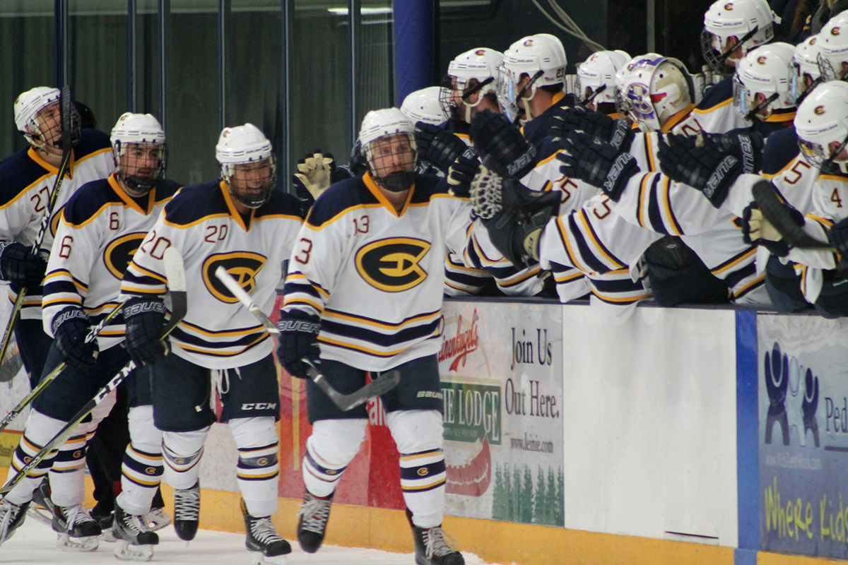 The Blugolds played on Saturday night, alumni night, against UW-River Falls where they won 4-0.