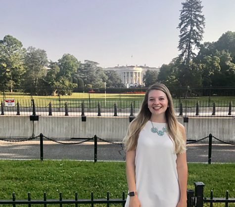 Junior public relations student Janel Riegleman, a communications intern for Marsy's Law for Wisconsin, hopes to one day move to Washington D.C. to become a communications director for a politician.