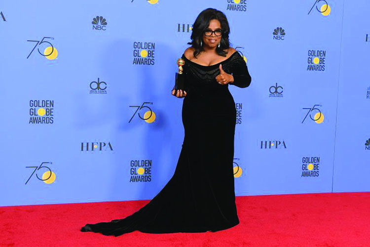Oprah Winfrey caused a stir after her moving acceptance speech at the Golden Globes.