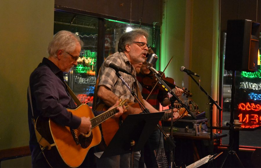 Eggplant Heroes performed to a loyal audience at 7 p.m. on Saturday night at Acoustic Café.