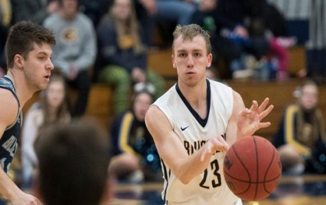 Diekelman's 20 points were not enough Saturday night as the Blugolds fell to UW-Oshkosh 77-72.