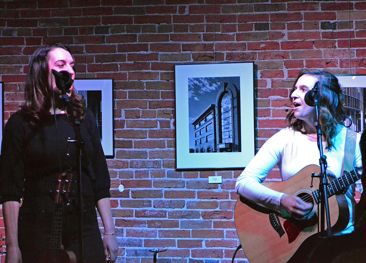 Cate Lucas (right) and Kelsey Nocek (left), performed with Sam Kienetz and Georgia Rae (not shown), at their band's album release at 7 p.m. on Friday night at The Local Store.