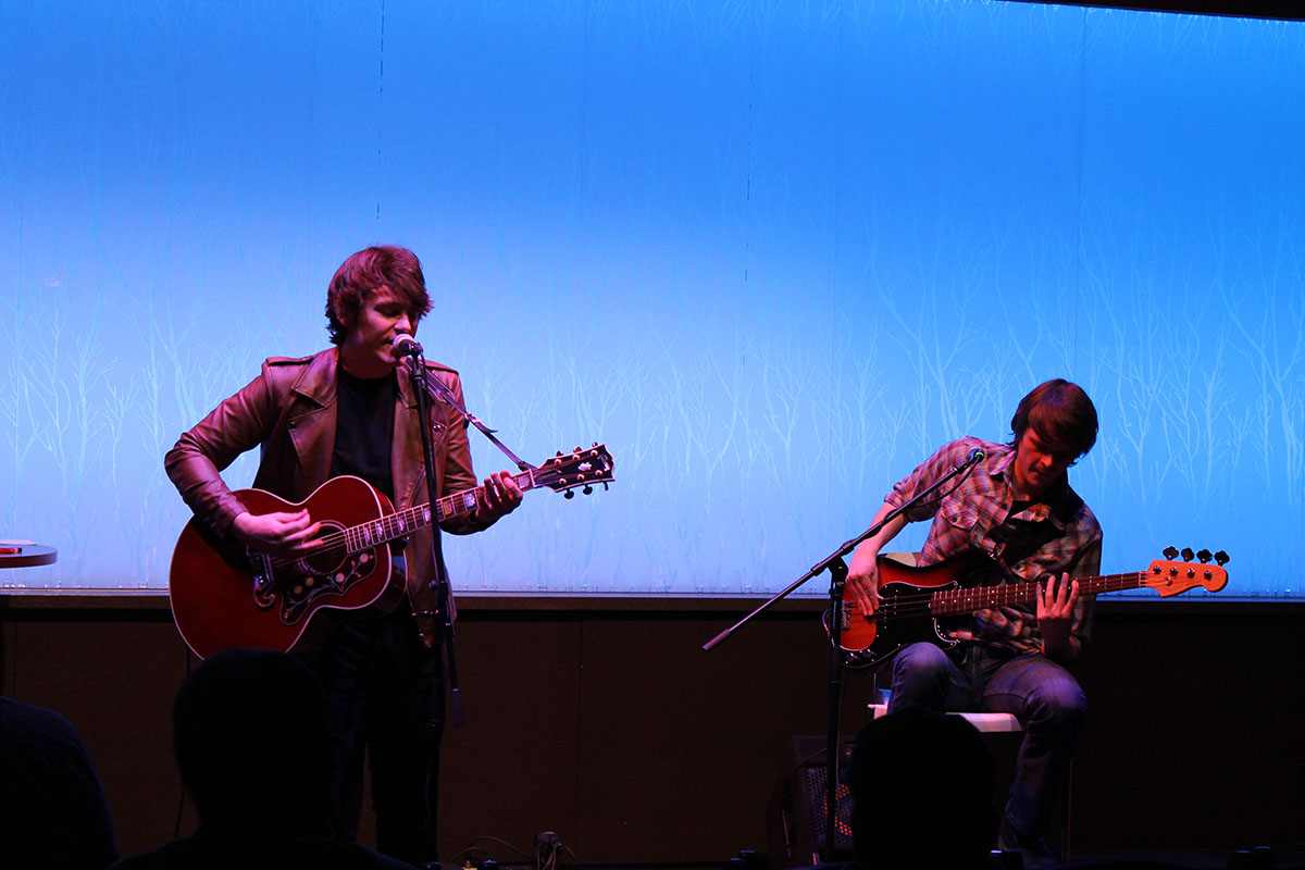 Trapper Schoepp and brother, Tanner Schoepp, performed original, co-written songs together to tell stories of their experiences.