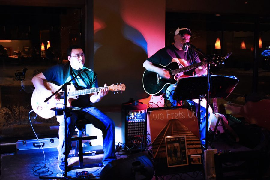 Larry Radle and Corey Van Norman performed at 7 p.m. Friday night at Acoustic Cafe.