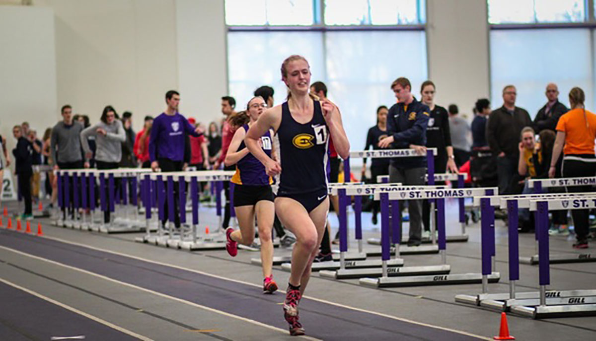 Powered by strong finishes in field and sprint events, the Blugold women's indoor track team came in first place at the UW-Oshkosh Titan Challenge. The men's team came in second at the invite.