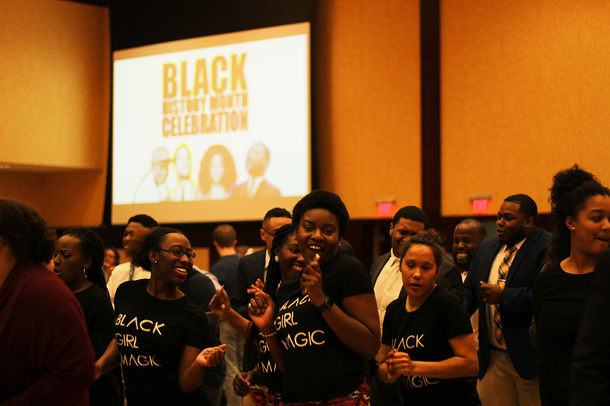 UW-Eau Claire planned a month of events to recognize black history and ended with a celebration Wednesday night.