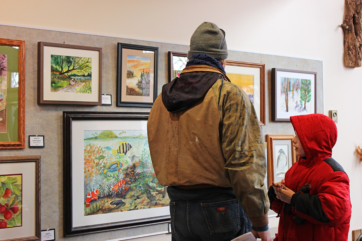All of the art show's paintings were created by the Chippewa Valley Watercolor Artists, an organization founded by a former UW-Eau Claire professor.