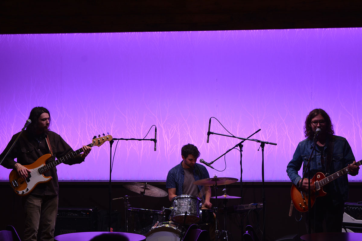 Matt Smith, Andy Goitia and Jacob Bicknase performed their original pieces on Friday night.