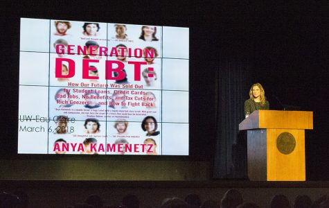 As part of UW-Eau Claire's The Forum series, Anya Kamenetz spoke on Tuesday night. Kamenetz said there are three types of debt that comprise America's deficit-reality: personal debt, national debt and eco-debt.