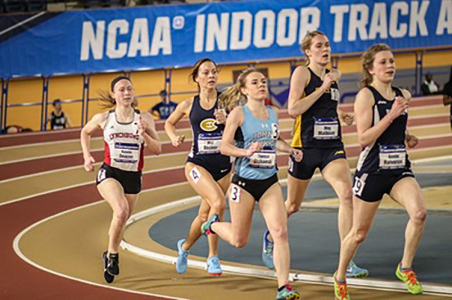 The+men%27s+and+women%27s+indoor+track+and+field+team+impressed+at+NCAA+meet%2C+each+placing+fourth.
