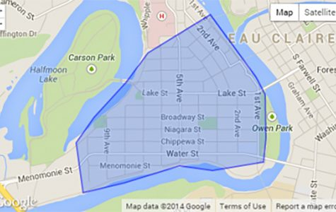 This map outlines the areas affected by the proposed ordinance changes. Voting occurs on March 13.
