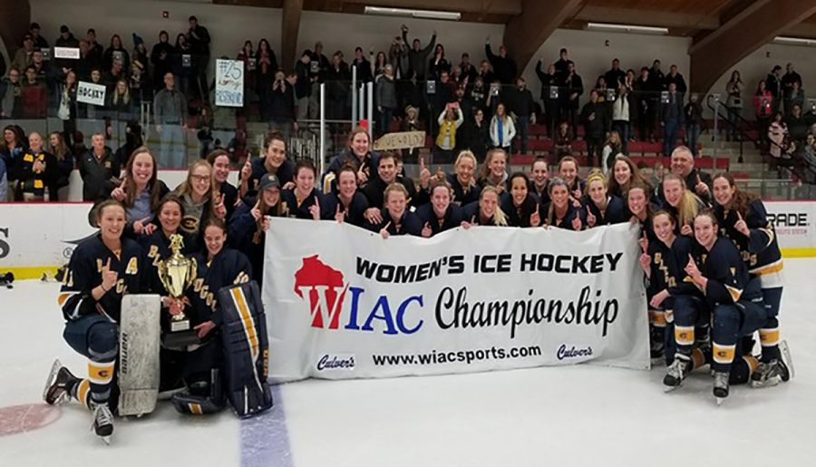 Women%E2%80%99s+hockey+makes+history+twice+by+securing+the+WIAC+championship+title+and+making+it+into+the+NCAA+tournament.+%0A