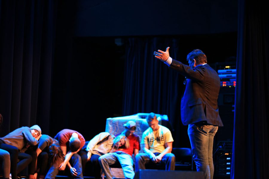 Daniel James brought comedy and hypnosis to UW-Eau Claire on Saturday night.