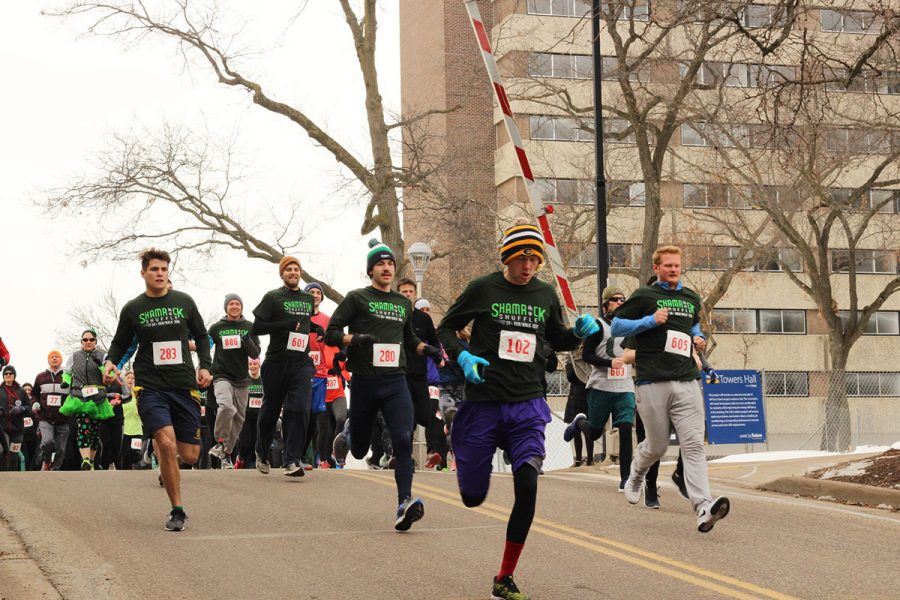 UW-Eau Claire students and locals participated in the Shamrock Shuffle last Saturday.