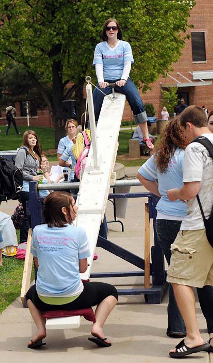 Alpha Xi Delta promotes conversations on Autism Spectrum Disorder (ASD) at events like the Teeter Totter-A-Thon.