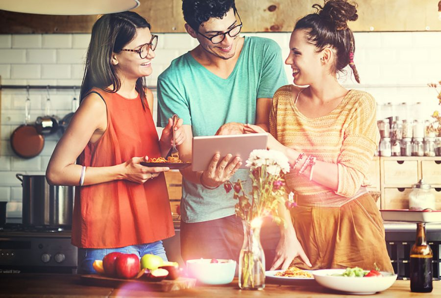 More millennials are using technology to learn how to cook at home.