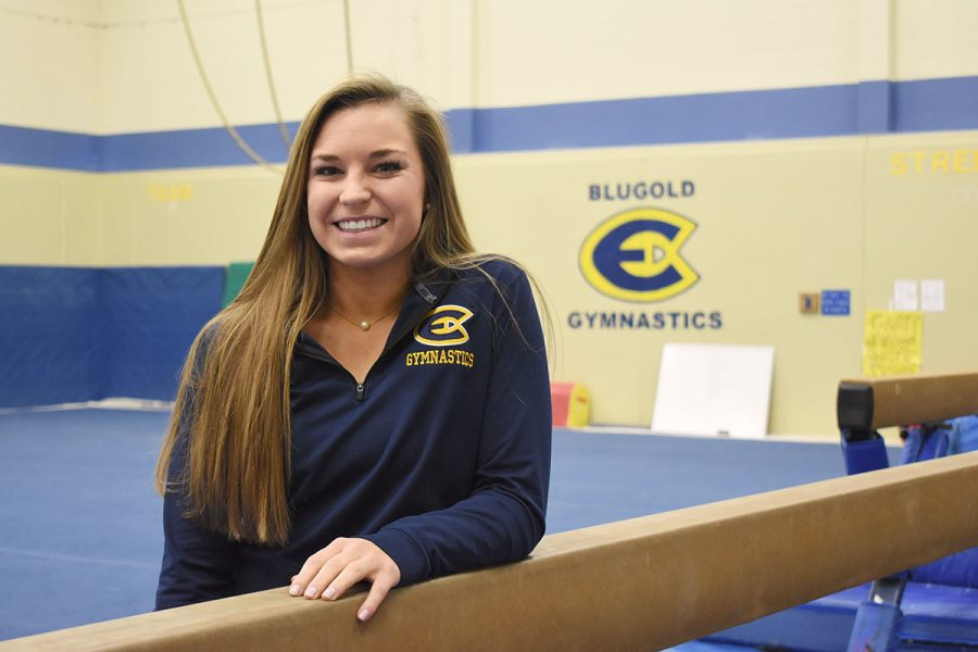 Erickson said she chose gymnastics over dance at the age of three and she has stuck with it since.