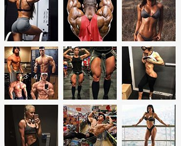 Instagram accounts featuring fitness professionals, like @muscle_hunt, sexualize muscular figures.