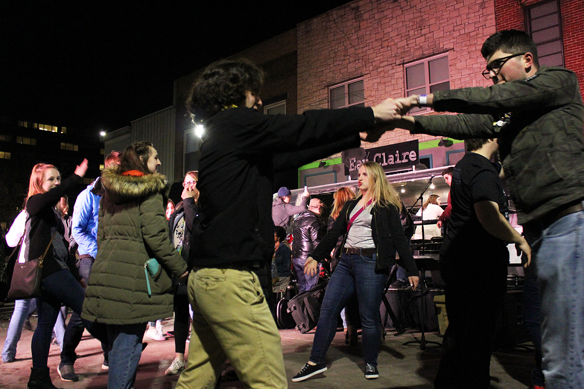 Thousands of visitors came out to watch local artists perform all around downtown Eau Claire on Friday and Saturday.