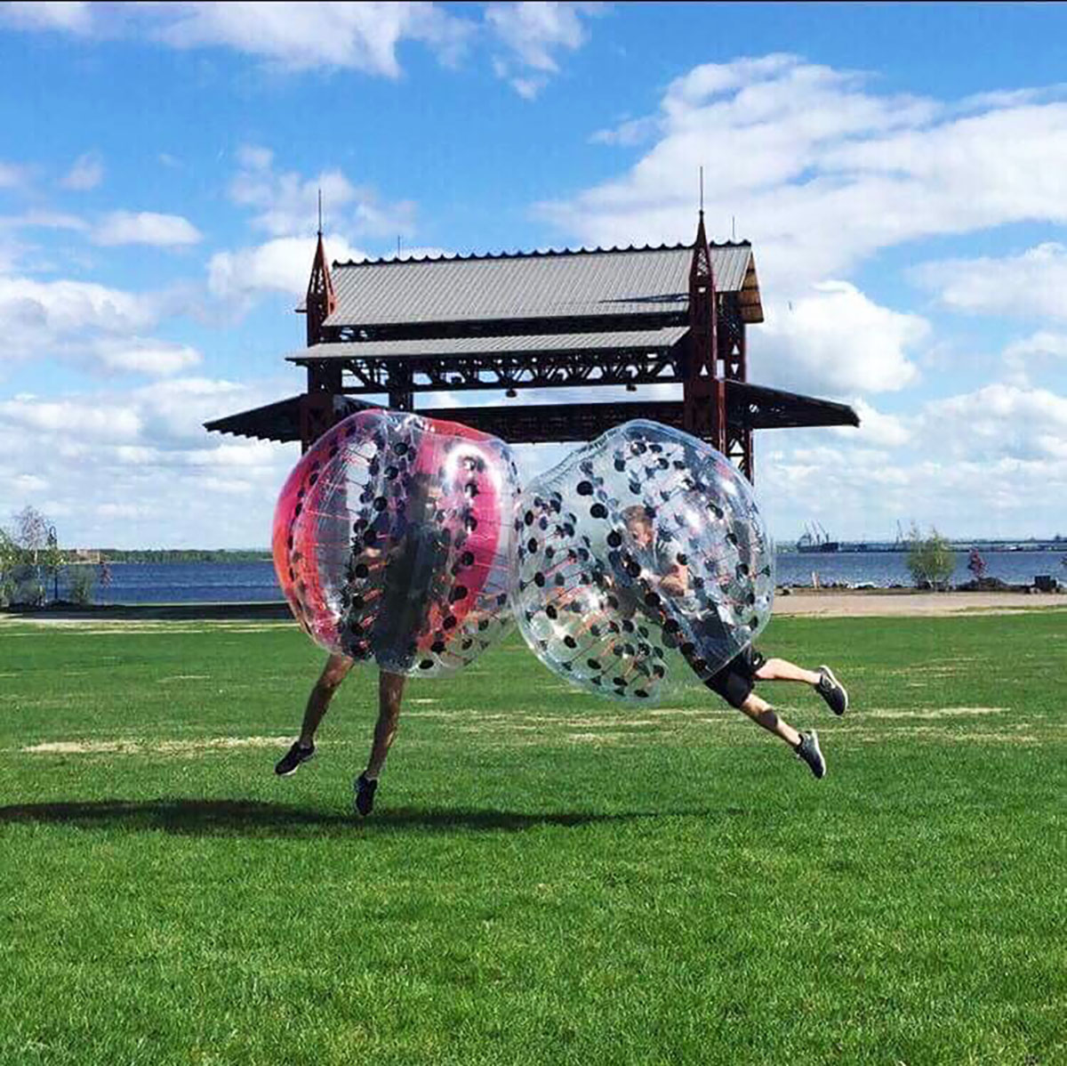 Shaun Petrovich bought a bubble ball business when the opportunity arose through a Facebook post.