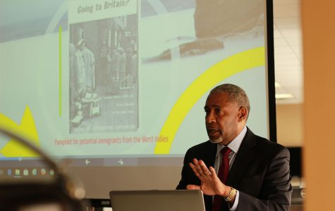 This semester's faculty forum series concludes with a discussion about racism in 1950's Britain