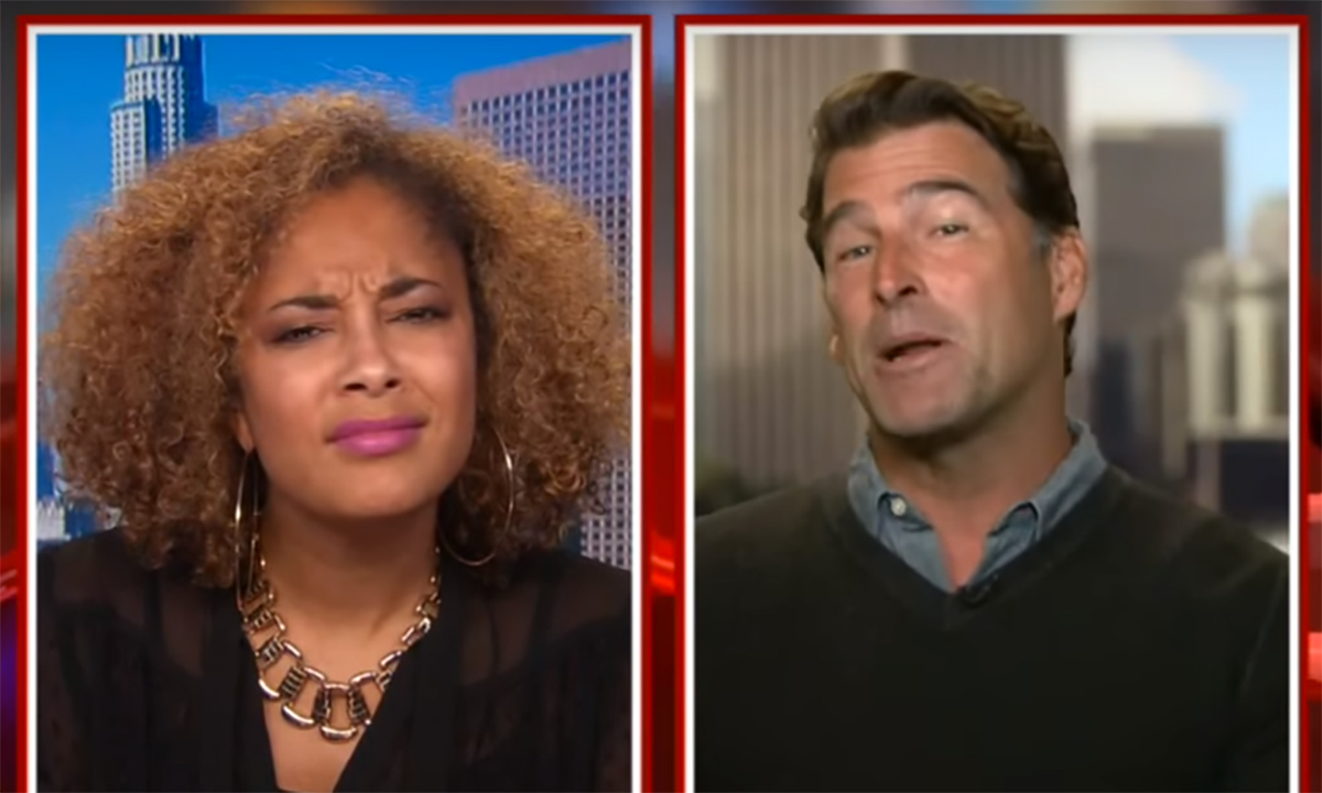 Comedian Amanda Seales reacts to author Steve Santagati telling her he's more of an expert on women than she is.