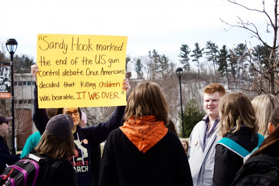 Students march around campus to mark Columbine shooting anniversary, protest gun laws