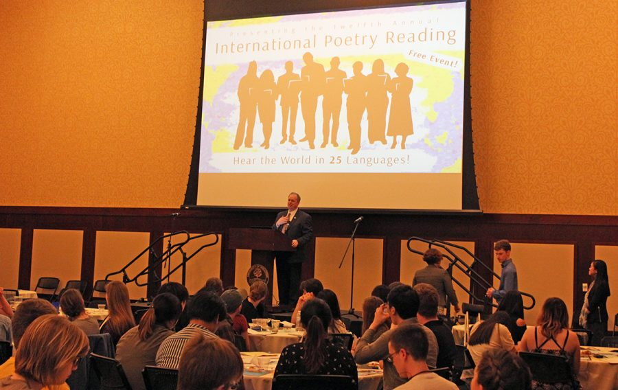 Students, staff and Eau Claire community members shared poetry in a variety of languages on Tuesday night.
