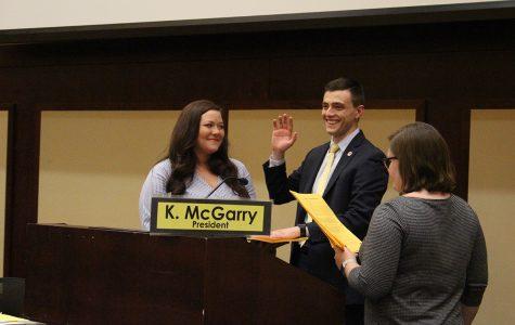 Branden Yates and Maddie Forrest sworn into office