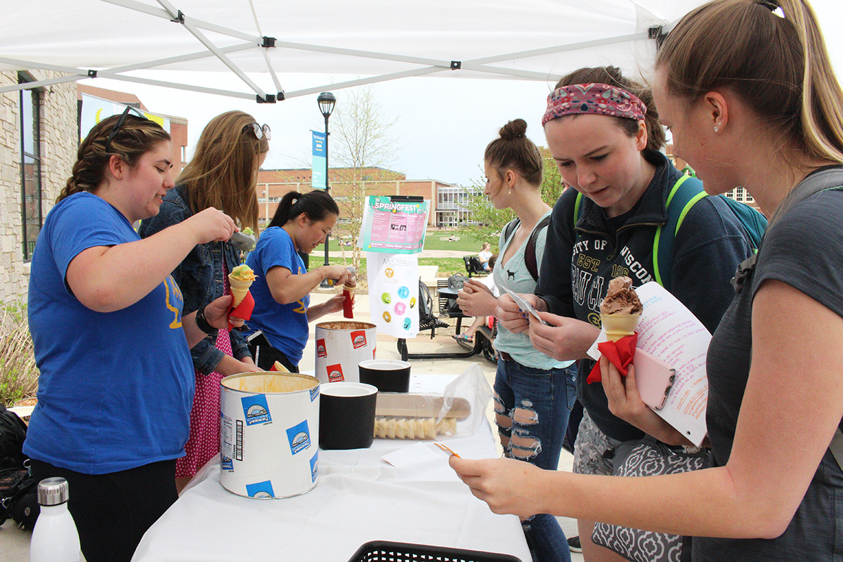 The annual festival allowed students to de-stress amidst the chaos of finals.