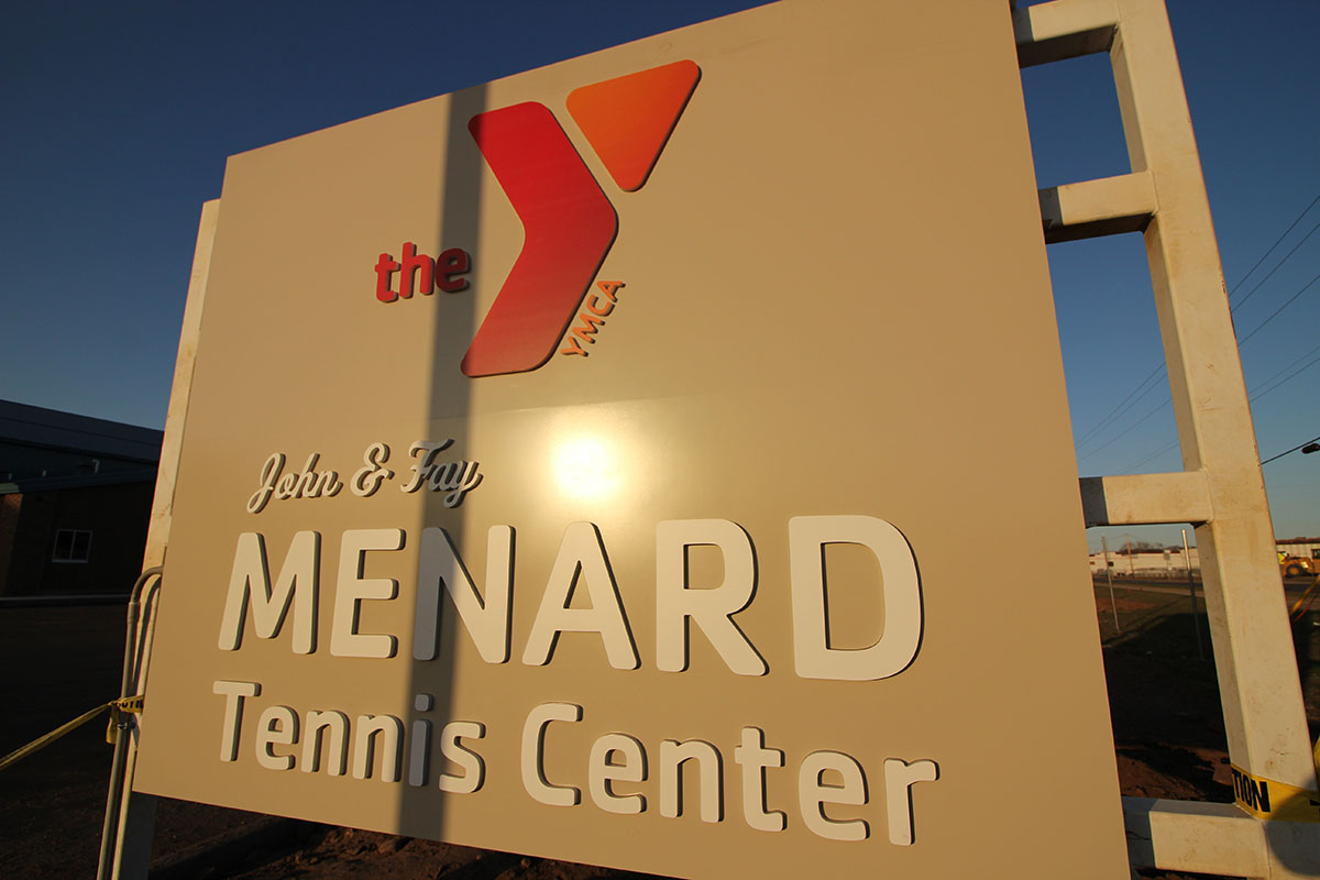 The new eight-court facility on Menomonie Street was made possible by a donation from the Menard family.