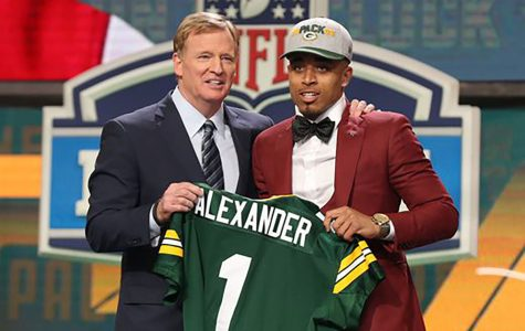 The Green Bay Packers selected cornerback Jaire Alexander in the first round of the NFL draft.