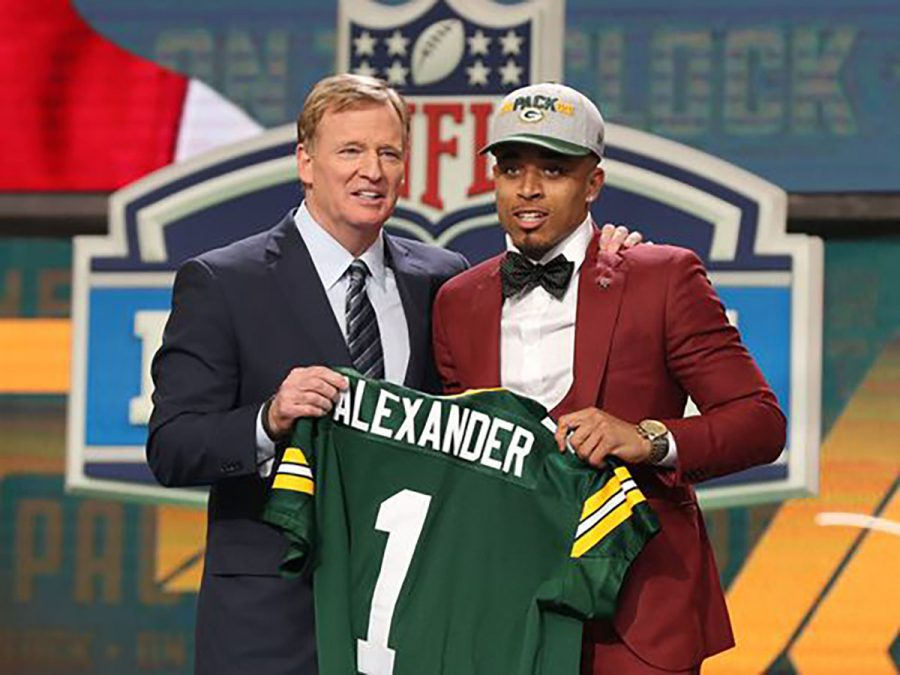 The+Green+Bay+Packers+selected+cornerback+Jaire+Alexander+in+the+first+round+of+the+NFL+draft.+