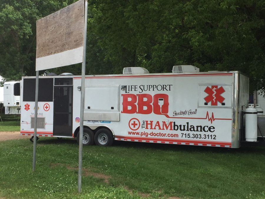 """Life Support BBQ's food truck is appropriately called """"The Hambulance."""""""