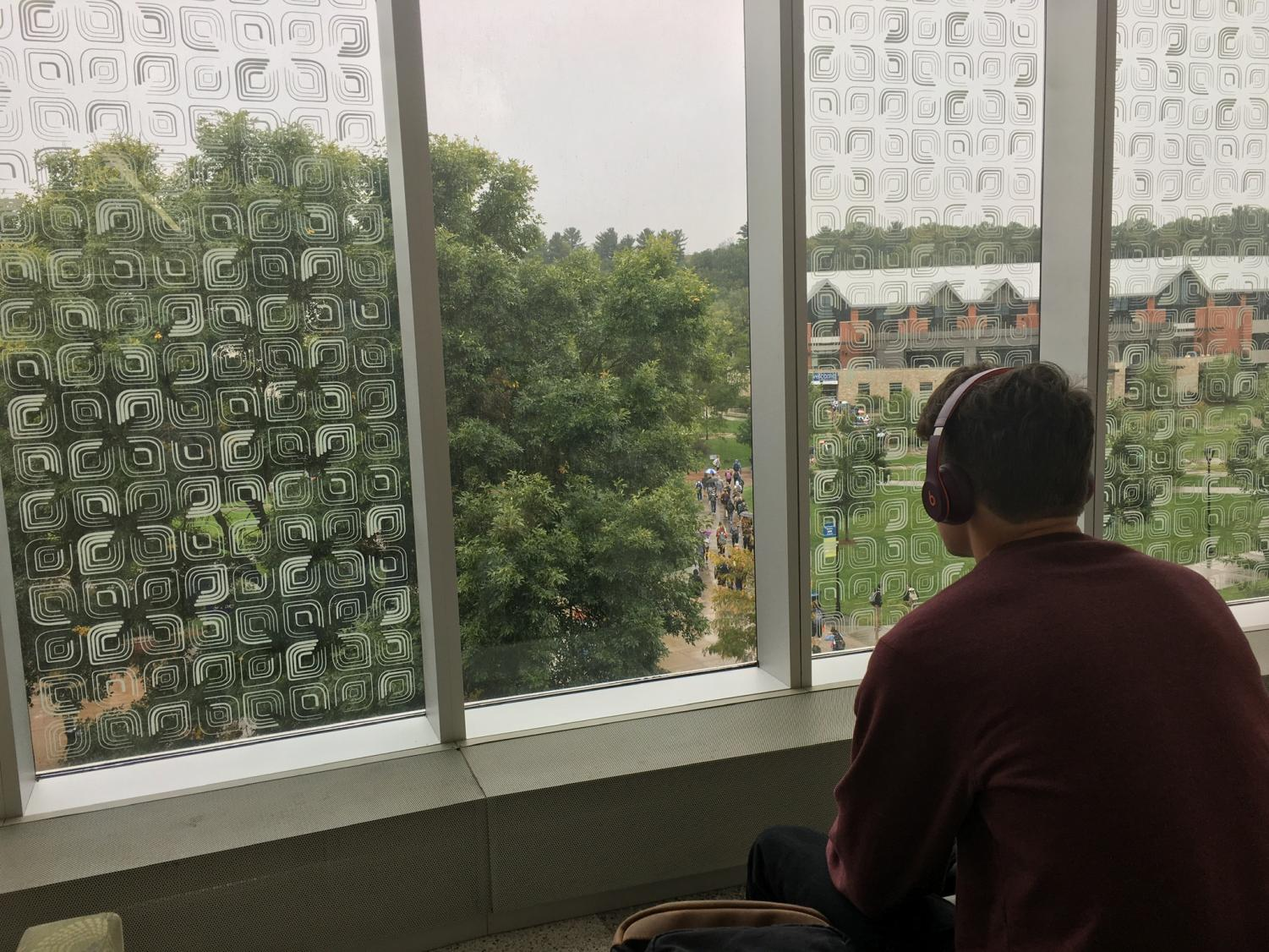 Huling takes a break from class to enjoy a unique genre of music.