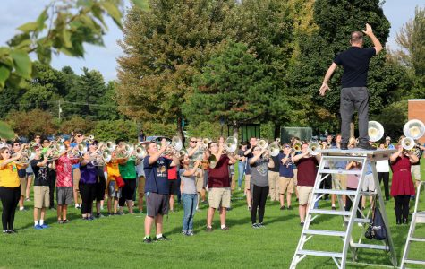 Due to demand, director Dr. Dickerson allowed more students to join BMB, making it the largest marching band in the midwest.