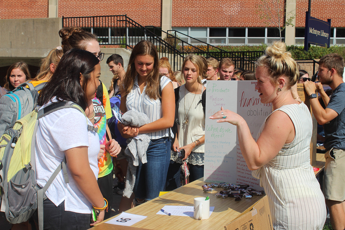 Members from participating organizations handed out treats and spoke with students about their organizations.