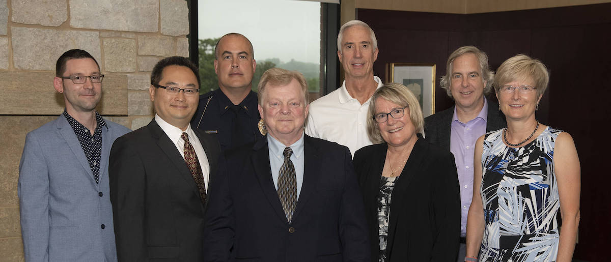 Eight UW-Eau Claire faculty members were recognized on Aug. 22.