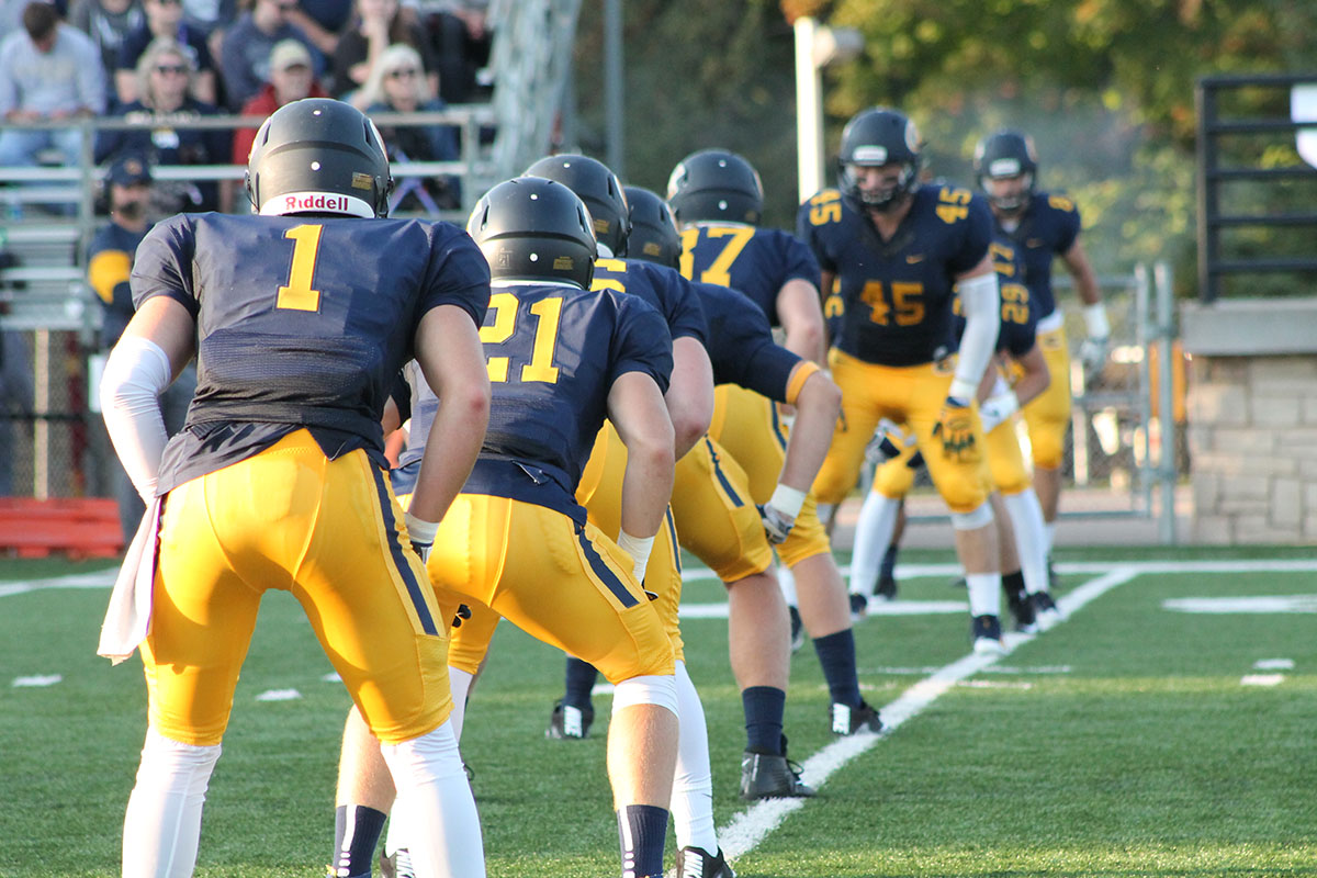 The Blugolds beat the Green Knights in double overtime on Saturday.