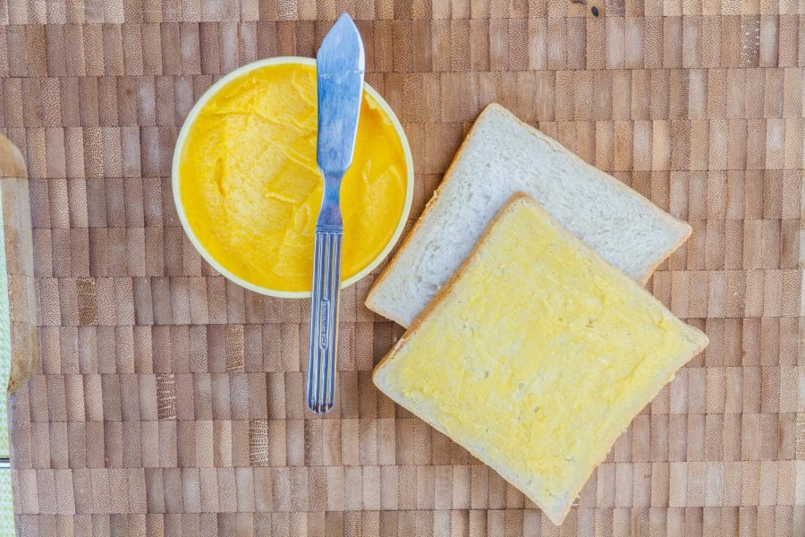 In state-run institutions, such as UW-Eau Claire, it is illegal for margarine to be substituted for butter unless specifically requested.