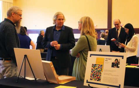 UW-Eau Claire published professors received recognition at Author's Celebration.