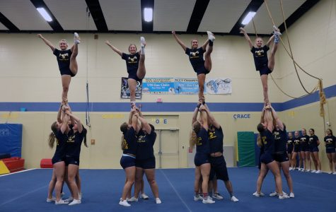 UW-Eau Claire cheer and stunt team supports campus and community