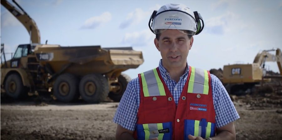 Scott Walker, pictured above, featured in one of his political ads.